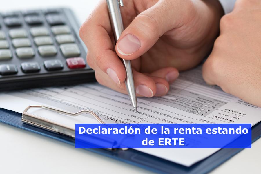 Declaración de la renta estando de ERTE